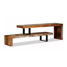 Mueble de televisón 2 partes ajustable reciclado VidaXL
