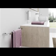 Toallero barra cromo 60cm taladro Nika Baño Diseño