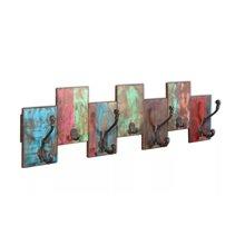 Perchero de pared madera reciclada VidaXL