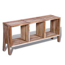 Mueble de televisón 3 estantes VidaXL