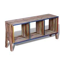 Mueble de televisón 3 estantes multicolor VidaXL