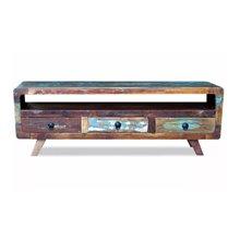 Mueble de televisón 3 cajones y estante VidaXL