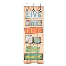 Perchero de pared ''Live your life in the...