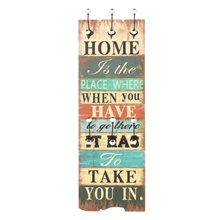 Perchero de pared frase ''Home'' VidaXL