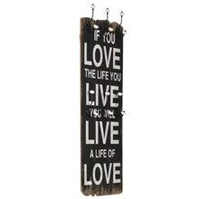Perchero de pared frase ''Love Live'' VidaXL