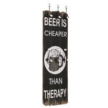 Perchero de pared frase ''Beer'' VidaXL