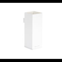 Portacepillos blanco de latón suspendido Point Baño Diseño