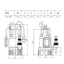 Bomba de agua sumergible VG V 750AS Espa