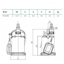Bomba de agua sumergible VX 750AS Espa