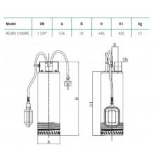 Bomba de agua sumergible ACUA5 1220AS Espa