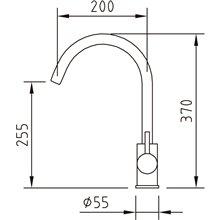 Grifo para fregadero Inox Curve Clever