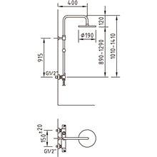 Columna de ducha termostática Caiman Clever