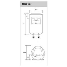 Termo vertical 100L Elba 100 EU Fleck