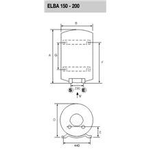 Termo vertical 150L Elba 150 EU Fleck