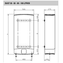 Termo reversible 80L Duo7 80 EU Fleck