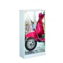 Zapatero 3 puertas diseño moto Iberodepot
