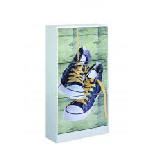 Zapatero 3 puertas diseño zapatillas Iberodepot