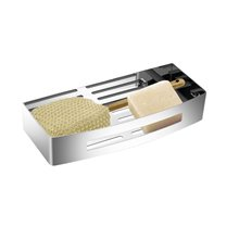 Cesta esponjera 30cm de acero inox Baño Diseño
