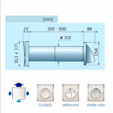 Kit Extractor SOLAR Ø-100 estándar