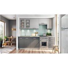 Cocina 240cm gris Brix Tarraco