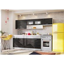 Cocina 240cm gris platino y grafito Bruno Tarraco