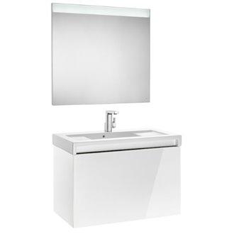 Pack mueble con lavabo blanco 90 cm Stratum-N Roca