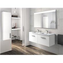Mueble con lavabo dos cajones blanco Prisma Roca