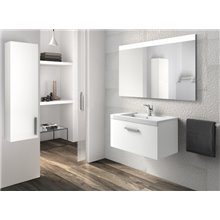Mueble con lavabo 80cm un cajón blanco Prisma Roca