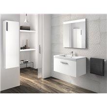 Pack mueble con lavabo un cajón blanco Prisma Roca