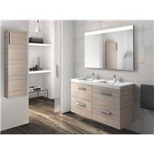 Pack mueble con lavabo cuatro cajones fresno Prisma Roca