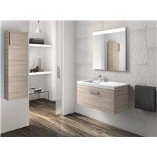 Pack mueble con lavabo un cajón 90 cm fresno Prisma Roca