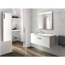 Pack mueble con lavabo un cajón blanco-fresno Prisma Roca