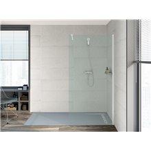Plato de ducha 200x80cm cemento Aquos Roca