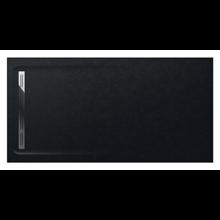 Plato de ducha 200x100cm negro Aquos Roca