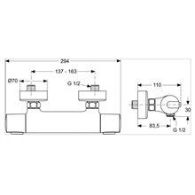Grifo ducha termostática Ceratherm 100 Ideal Standard
