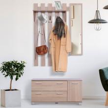 Mueble de recibidor con perchero y espejo HomCom