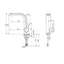 Grifo monomando lavabo 220 Melange Ideal Standard