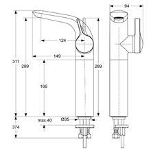 Grifo monomando lavabo 289 Melange Ideal Standard
