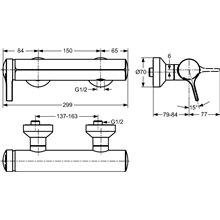 Grifo monomando exterior de ducha Melange Ideal Standard