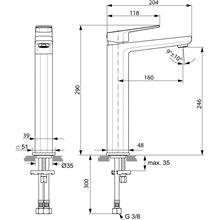 Grifo alto para lavabo Tonic II Ideal Standard