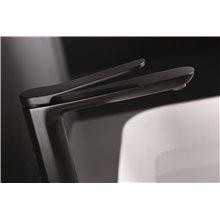 Grifo lavabo caño alto Negro Mate Dinamarca Imex