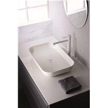 Grifo lavabo caño alto Blanco Mate Milos Imex