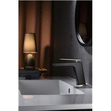 Grifo lavabo Negro Oro Suecia Imex