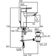 Grifo monomando lavabo Bluestart Ceramix-Tesi  Ideal Standard