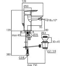 Grifo monomando bidé 5L Ceramix-Tesi  Ideal Standard