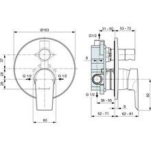 Pack empotrable exterior baño-ducha Ceramix-Tesi Ideal Standard