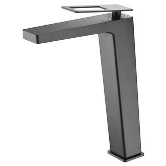 Grifo lavabo caño alto Negro Mate Suecia Imex