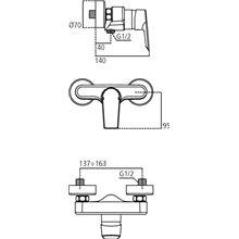 Grifo monomando exterior ducha Ceramix-Tesi Ideal Standard