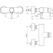 Grifo monomando exterior ducha Mara Ideal Standard