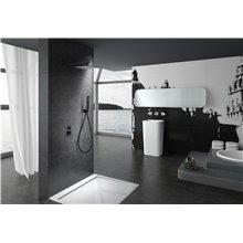 Conjunto de ducha empotrada Negro Mate Suecia Imex